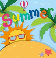 Summer theme with sand and sun vector