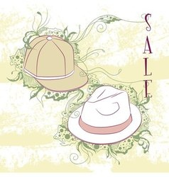 Decorative fashion mens hats vector
