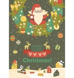 Santa claus celebrating christmas vector