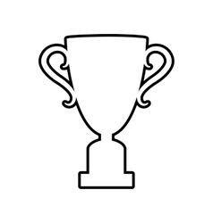 Champions cup line icon vector
