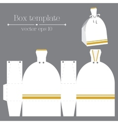 Box template white glad rags vector