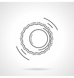 Astrology flat line design icon vector