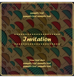 invitation card with umbrella vector image