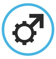 Technological Potence Flat Rounded Icon vector image