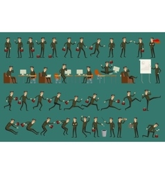 Business man isolated set male peple vector