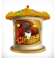 Poster of circus funny animals icon mesh vector