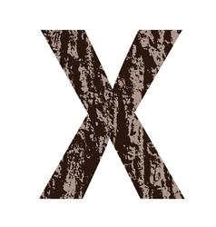 Bark letter x vector