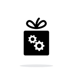 Box with gear icon on white background vector image vector image