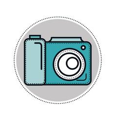 Camera sticker design vector
