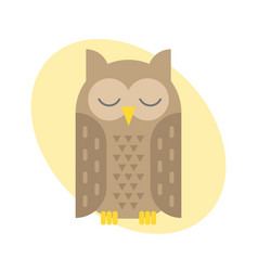 Cartoon owl bird cute vector
