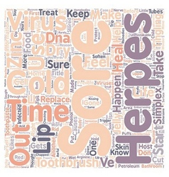 Cold sores text background wordcloud concept vector