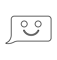 comment smile message black icon vector image vector image