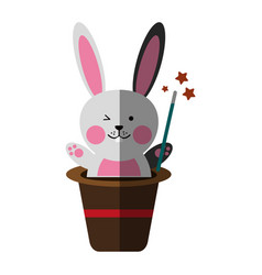Cute rabbit or bunny icon image vector