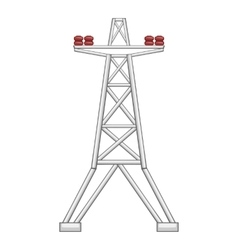 Electric pole icon flat style vector