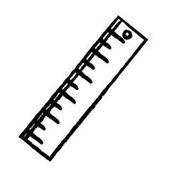 figure ruler design to school tool education vector image vector image