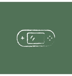 Game console gadget icon drawn in chalk vector