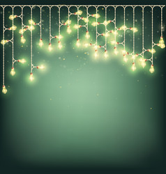glowing light bulbs new year christmas background vector image vector image