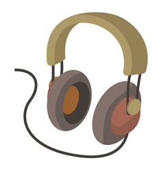 Headphone icon cartoon style vector