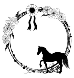 horse frame vector image vector image