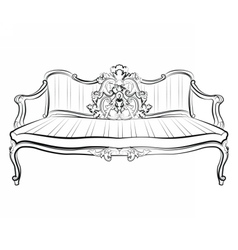 Imperial royal sofa vector