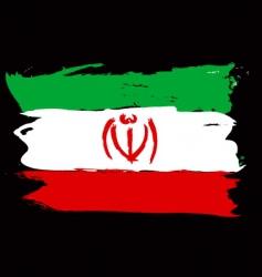 Iran grunge flag vector image
