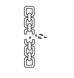 line good metal chain to protect something vector image