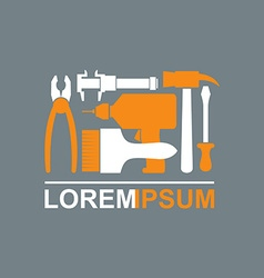 Logo of Construction tools Carpentry tools to vector image vector image