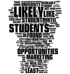 Meet the students text background word cloud vector