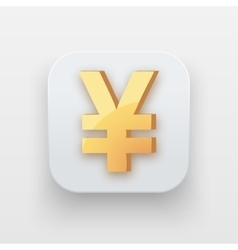 Money icon Symbol of Gold Yen vector image vector image