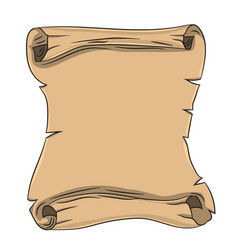 Old scroll drawing by hand vector