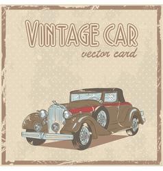 Retro 50s car stylish vintage postcard vector image vector image