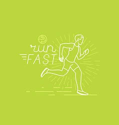 running and sport motivation poster vector image vector image
