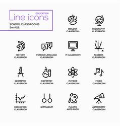school classrooms - modern single line vector image