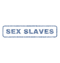 Sex slaves textile stamp vector