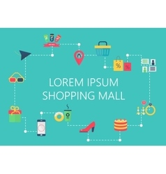 Shopping mall map concept interactive vector