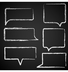 Sketch of speech bubbles chalked vector image vector image