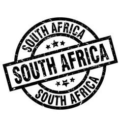 South africa black round grunge stamp vector