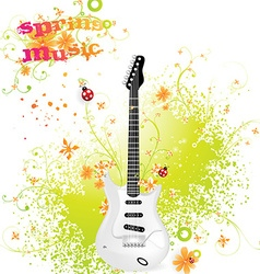 Spring guitar icon vector