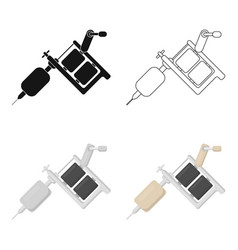 tattoo machine icon cartoon single tattoo icon vector image vector image