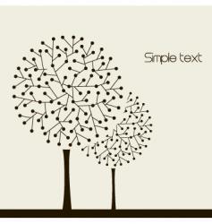 Trees design vector