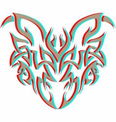tribal demon vector image