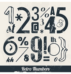 Various Retro Vintage Number and Typography vector image