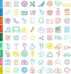 web icons set for business vector image