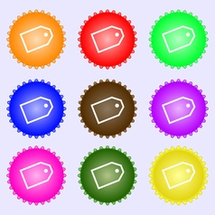 Web stickers icon sign A set of nine different vector image