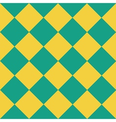 Yellow green chess board diamond background vector