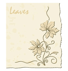Old paper background vector image
