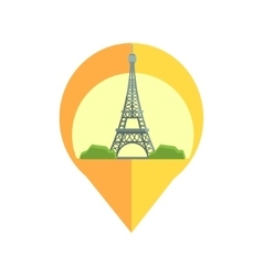 On-line map marker with eifel tower vector
