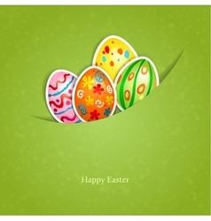 Easter green background with egg vector