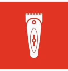 The hairclipper icon shaver symbol flat vector