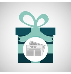 Happy fathers day with gift newspaper vector